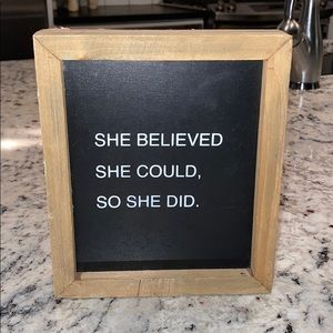 Wooden accent sign